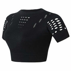 REBEL BLACK CROP TOP