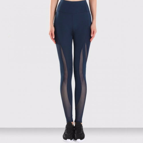 FREEDOM LEGGING BLUE by Moves Athletix Sheer mesh