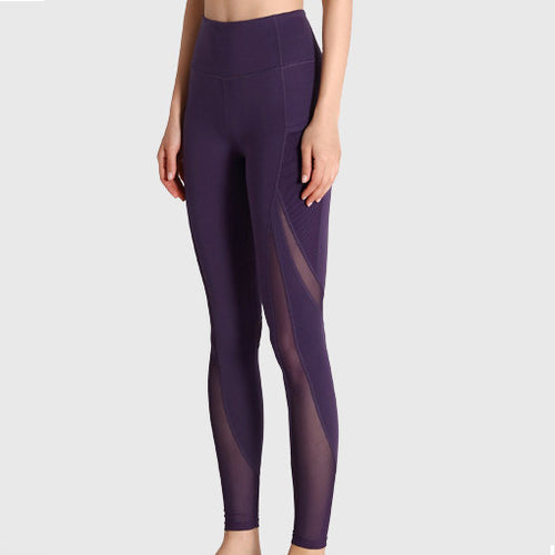 FREEDOM LEGGING PURPLE by Moves Athletix Sheer mesh