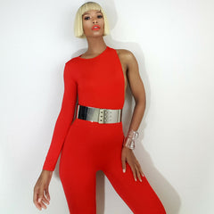 Nicole Spruill, Supermodel, Nik Spruill brand, One Strut Models One Shoulder jumpsuit video, backless