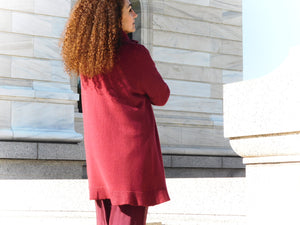 Comfy maroon pull over sweater