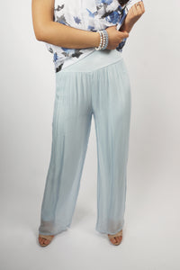 Powder blue comfort pants