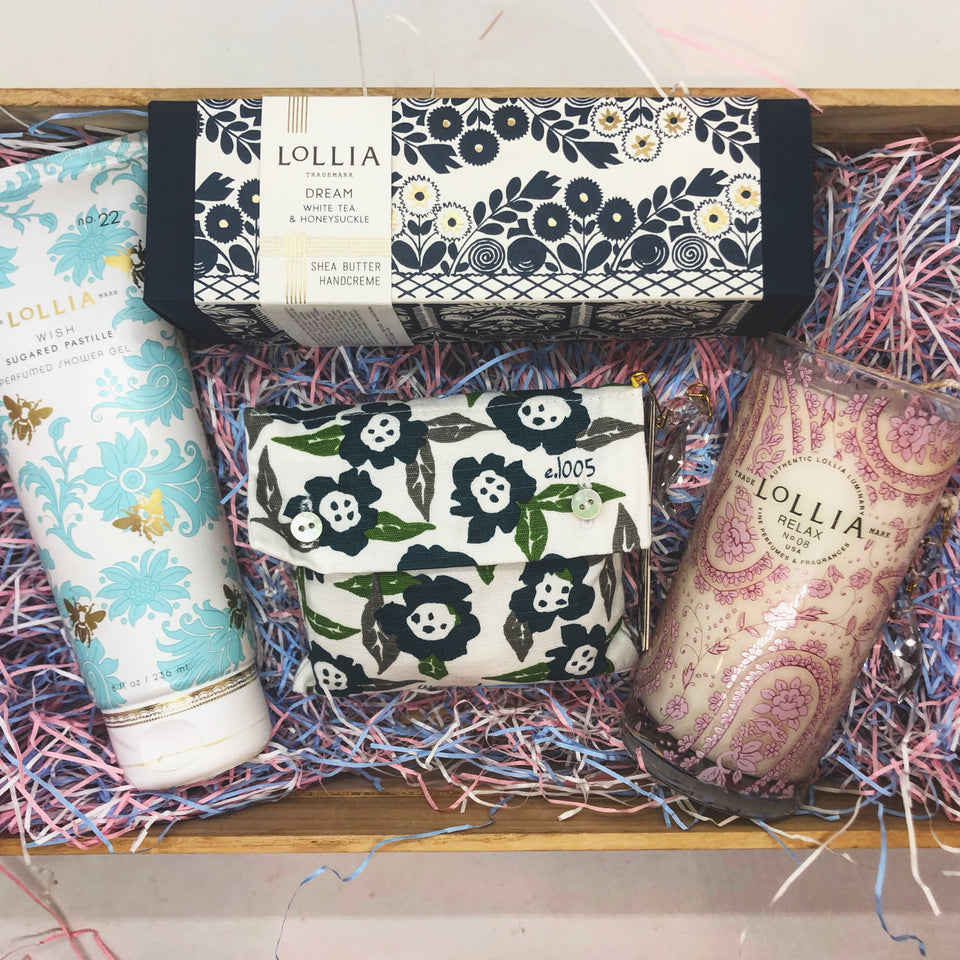 Custom Lollia - gift box - basket