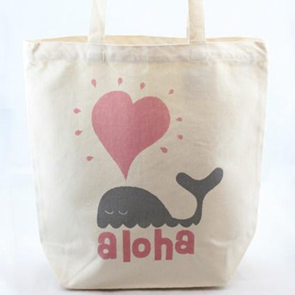 Whale Heart tote - includes free delivery on Oahu