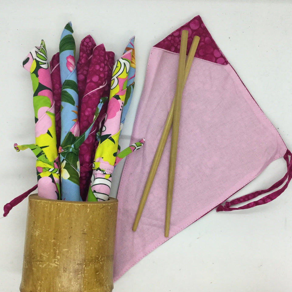 Reusable Chopsticks & Wrap (wraps made in Hawaii)