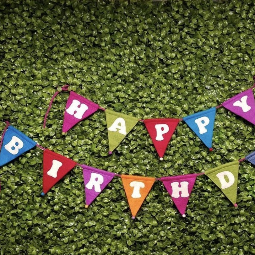 Felt Happy Birthday banner / pennant