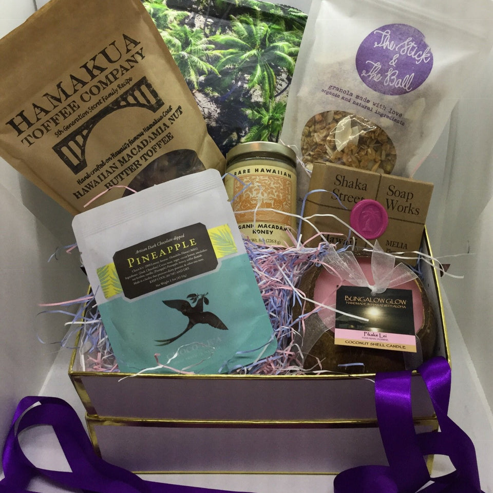 Custom Maile's Favorite Picks to benefit PRESENT NOW - gift basket