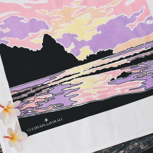 Cultivate scenic dishtowels printed on Kauai
