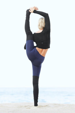 Waisted Goddess Legging - Navy/Black