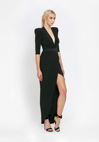 Eye of Horus Dress Gown Black