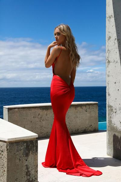 Jolie Red Gown