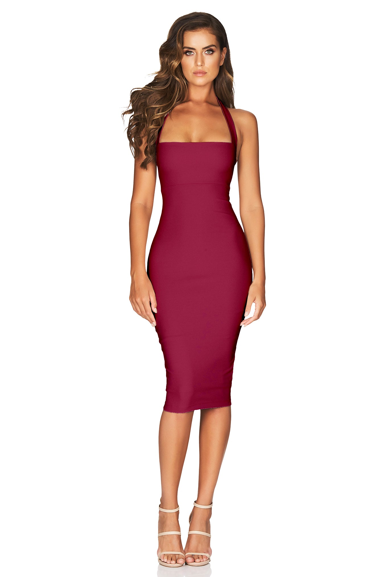 Boulevard Halter Dress Ruby