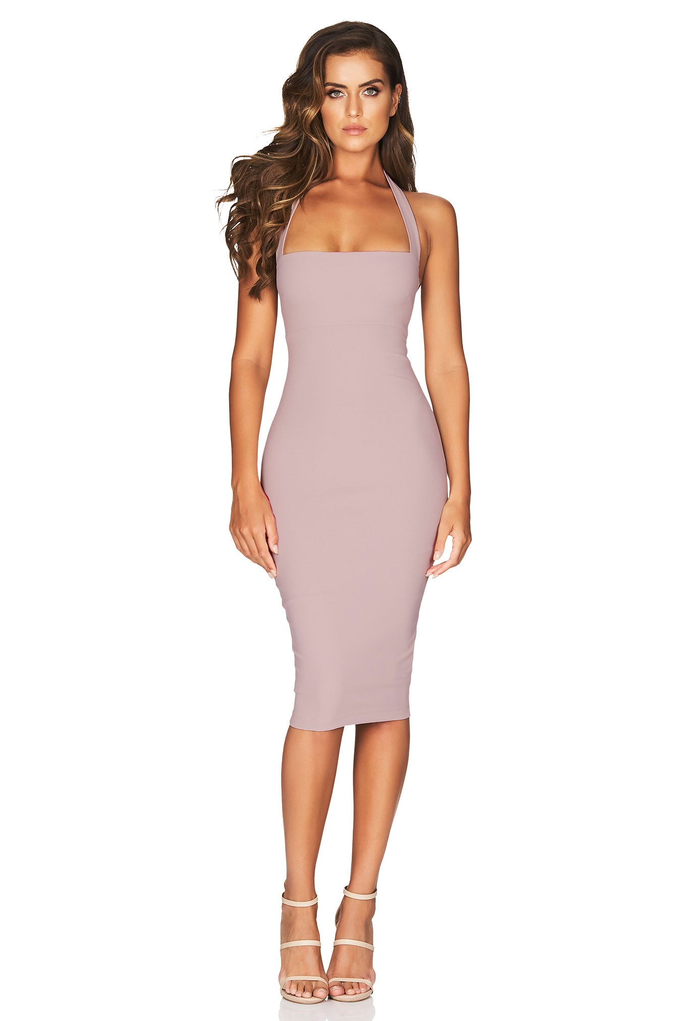 Boulevard Halter Dress Blush