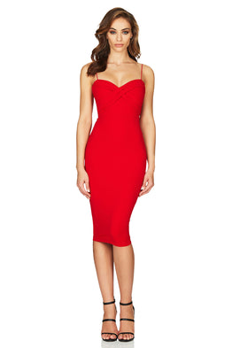 Camille Midi Red Dress