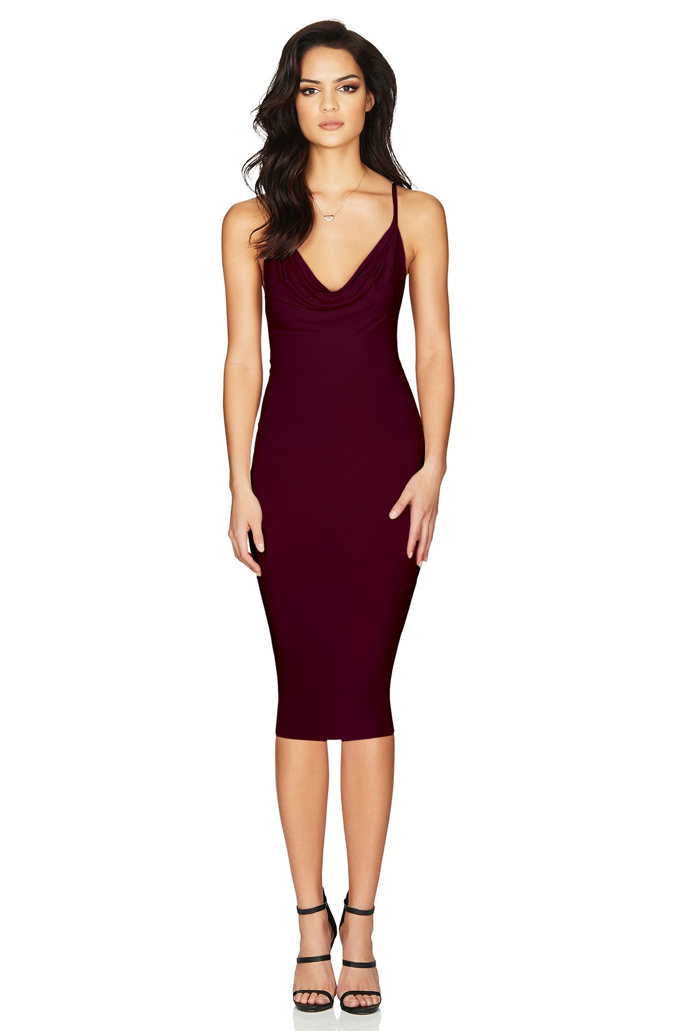 Hustle Midi Dress Wine