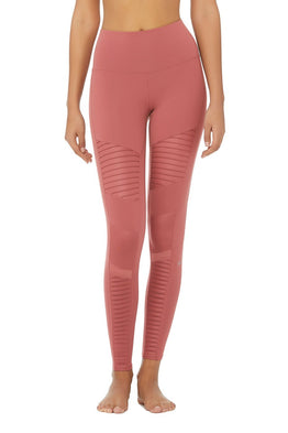 High Waisted Legging - Rosewood