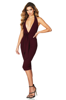 Dare Midi Dress Wine