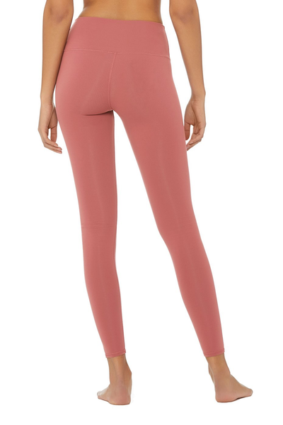 High Waisted Airbrush Rosewood Legging