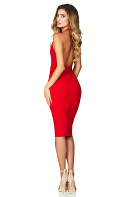 Dare Midi Dress Red