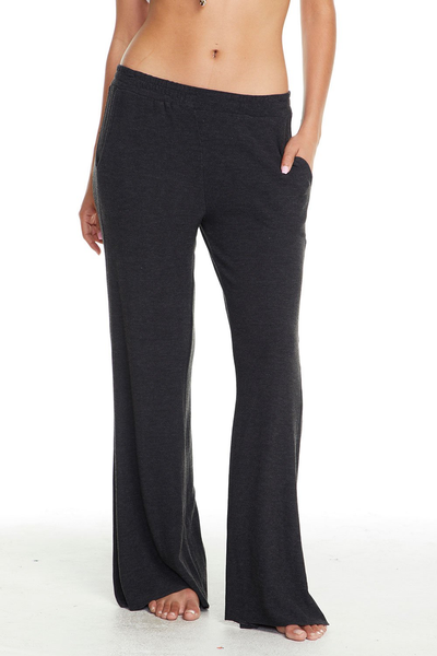 COZY KNIT WIDE LEG TRACK PANT