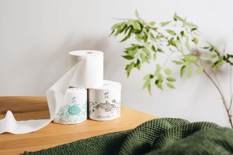 Pure Planet Club's Plastic-Free Bamboo Toilet Paper, Turtle & Orca Wrappers