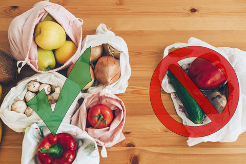Food in cloth bags