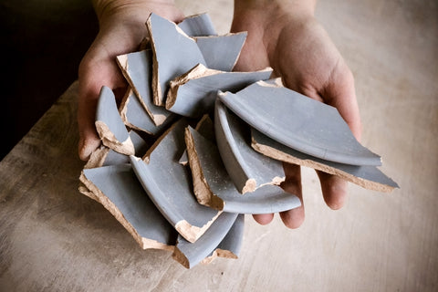 Pottery shards or Pessoi, commonly used as toilet paper by Greeks and Romans