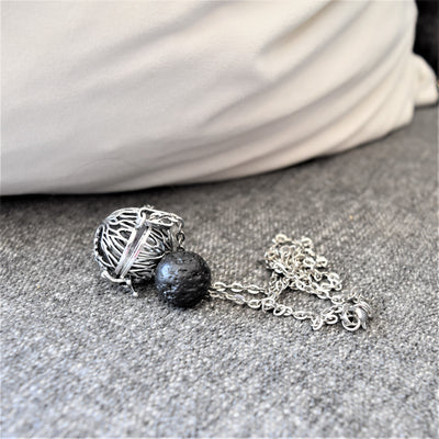 Pendant Lava Stone Diffuser Necklace - Holistic Oils