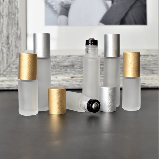 Frosted Clear Roller Bottles | Holistic Oils