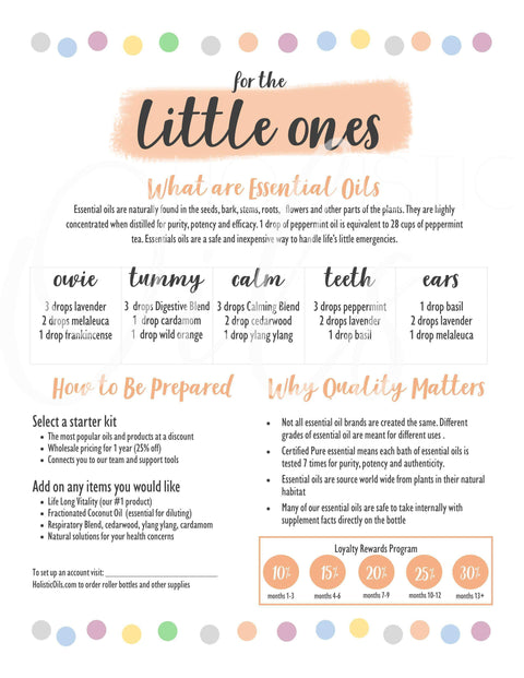 Little Ones - digital download | Holistic Oils