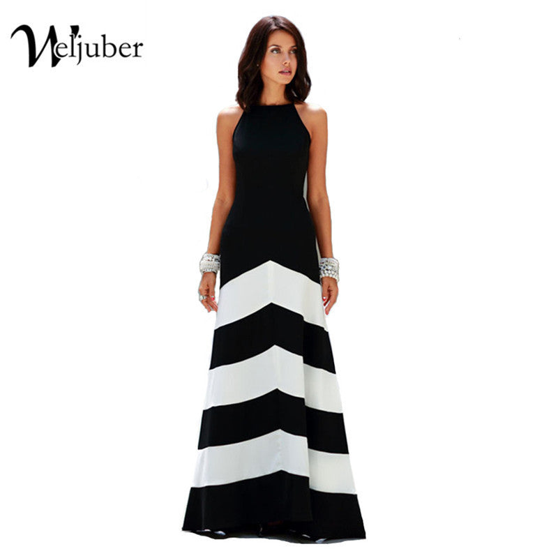 bc56eb28405 Women Striped Maxi Dress 2016 Summer Style Sleeveless Womens Clothing  Office Sexy Casual Long Dress Vestidos Plus Size Ukraine