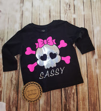 Sassy Skull Tshirt - Pitter Patter Baby Boutique