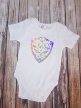 Zelda Shield Onsie - Pitter Patter Baby Boutique