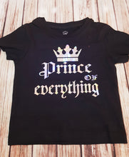 Silver Metallic Prince Of Everything Tshirt - Pitter Patter Baby Boutique