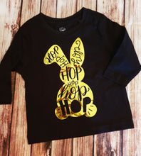 Gold bunny Easter Shirt - Pitter Patter Baby Boutique