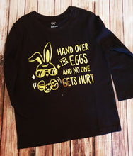 Black And Gold Easter Tee - Pitter Patter Baby Boutique