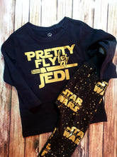 Boy's Black And Gold Jedi Tshirt - Pitter Patter Baby Boutique