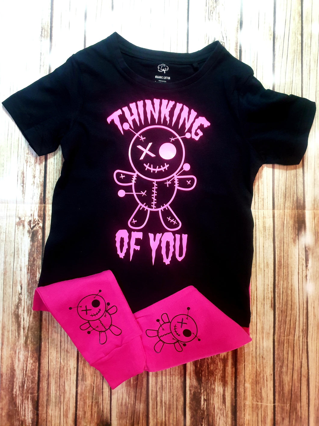 Thinking Of You Voodoo Doll Tshirt - Pitter Patter Baby Boutique