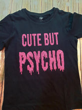 Glitter Pink Cute But Psycho Tee's - Pitter Patter Baby Boutique
