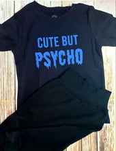 Blue Cute But Psycho Tee - Pitter Patter Baby Boutique