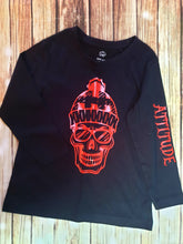 Red And Black Skull Tee - Pitter Patter Baby Boutique