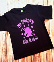 Purple Glitter Unicorn Tshirt - Pitter Patter Baby Boutique
