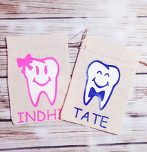 Personalized Tooth Bags - Pitter Patter Baby Boutique