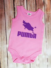 Girl's Pink And Purple Pumba Onsie - Pitter Patter Baby Boutique