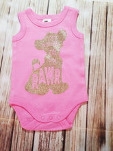Rose Gold Glitter Lion Onsie - Pitter Patter Baby Boutique