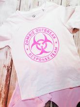 Girl's Zombie Outbreak Tee - Pitter Patter Baby Boutique