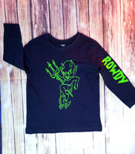 Neon Green Rowdy Tshirt - Pitter Patter Baby Boutique