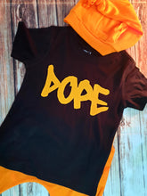 Neon Orange, Dope, Graffiti Tshirt - Pitter Patter Baby Boutique