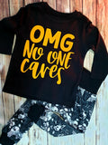OMG No One Cares Neon Or Holographic Gold Tshirt - Pitter Patter Baby Boutique