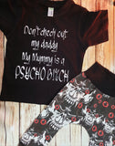 Don't check Out My Daddy Funny Kids Tshirt - Pitter Patter Baby Boutique
